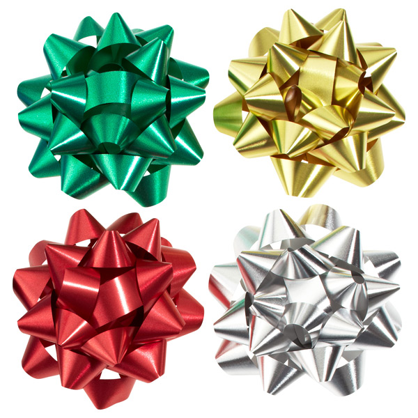 4-Color Metallic Bow Assortment