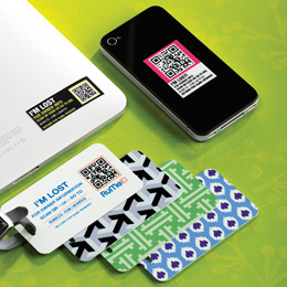 RuMeID QR Decals & Luggage Tag