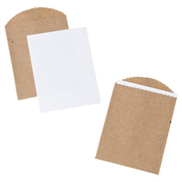 Gift Cards and Kraft Bags