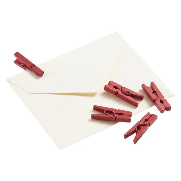 Red Mini Clothespins