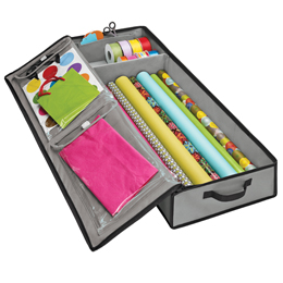 Vertical Gift Wrap Organizer The Container Store