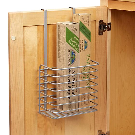 Polytherm overcabinet tall basket the container store for Kitchen cabinet wraps