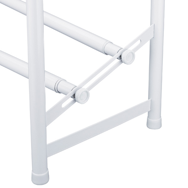 White 2-Tier Adjustable Shoe Rack