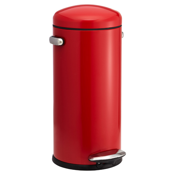 simplehuman 8 gal. Retro Step Can Red