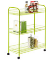 Green 3-Tier Grande Rolling Cart