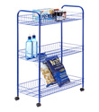 Blue 3-Tier Grande Rolling Cart