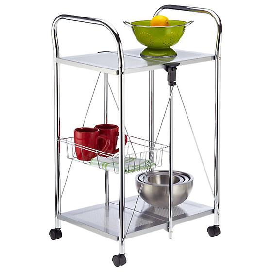 Silver Sunny Kitchen Trolley