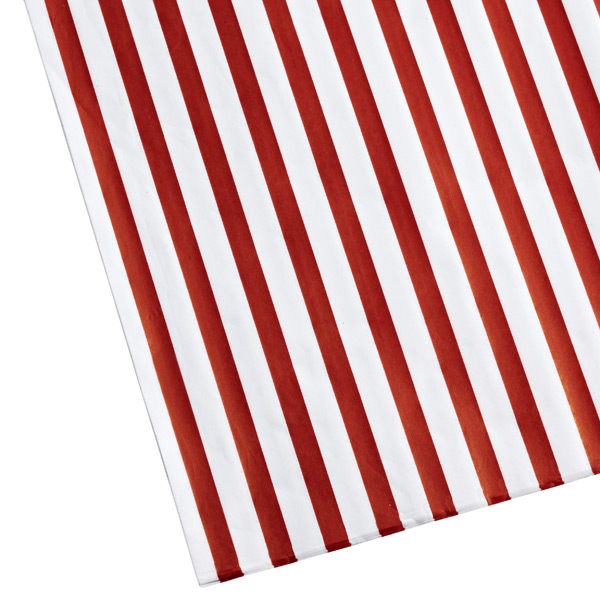 Red & White Stripes Tissue