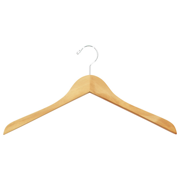 Case of 36 Basic Shirt Hangers Natural