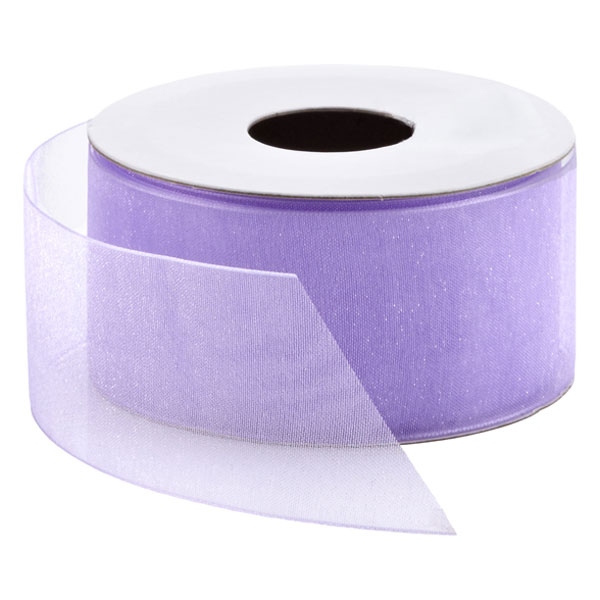 Purple Heather Chiffon Ribbon