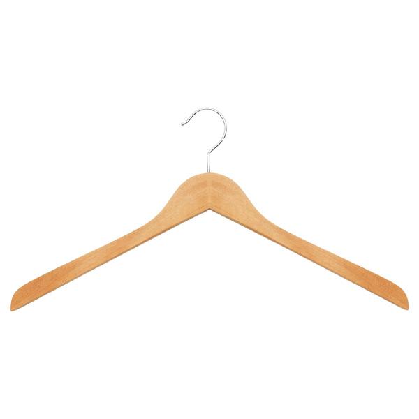 Basic Oversized Shirt Hanger Natural Pkg/6