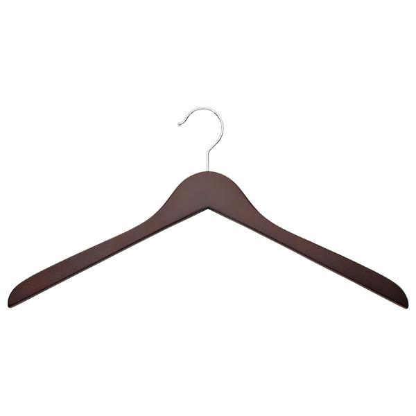 Basic Oversized Shirt Hanger Walnut Pkg/6