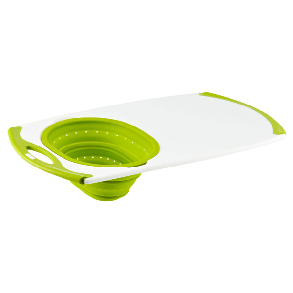 Oversink Strainer Board Green Silicone