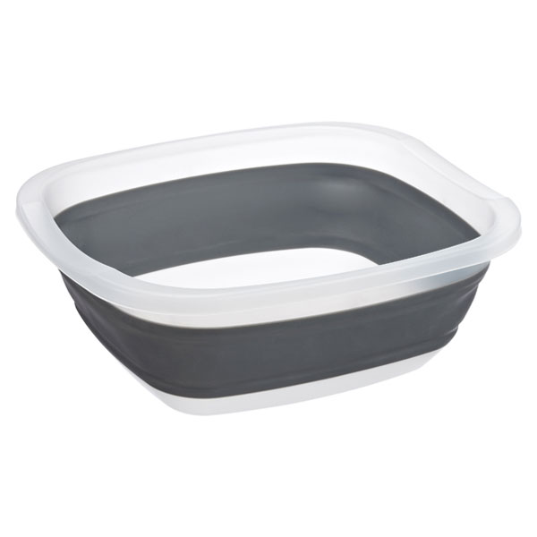Collapsible Tub Grey/Translucent