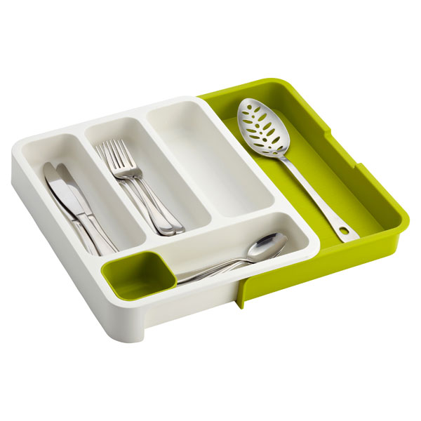 Joseph Joseph Expandable DrawerStore Cutlery Tray Green & White