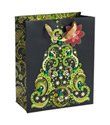 Large Green Paisley Tree Gift Tote