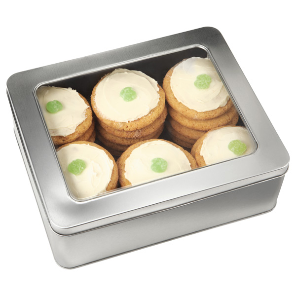 Silver Rectangular Tins with Windows