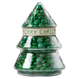 Green Merry Christmas Tree Jar Gift