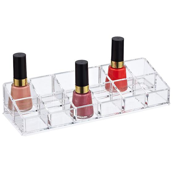 12-Section Acrylic Nail Polish Riser