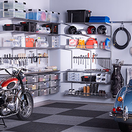 Driftwood & Platinum elfa utility Garage