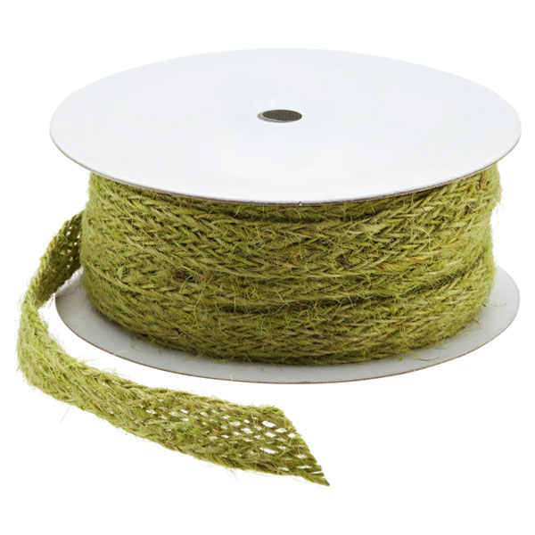 Green Jute Weave Ribbon