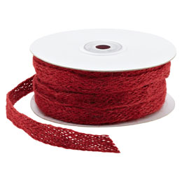 Red Jute Weave Ribbon