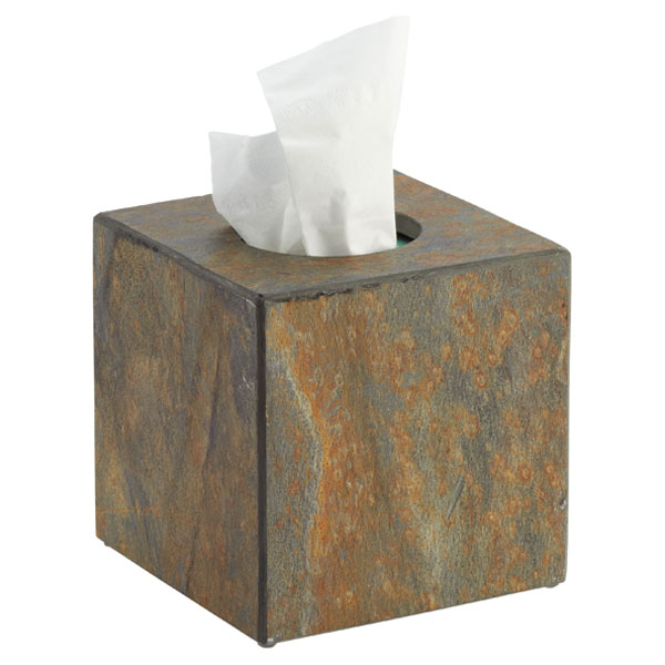 Slate Tissue Box Cover