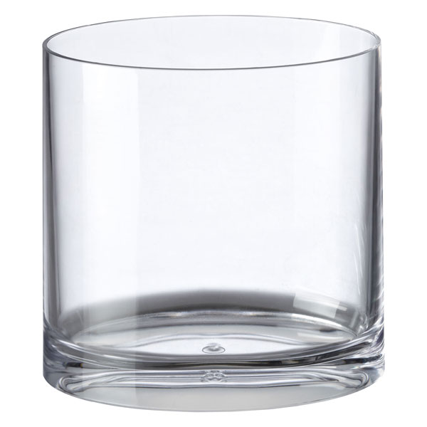 Oval Acrylic Wastebasket Clear
