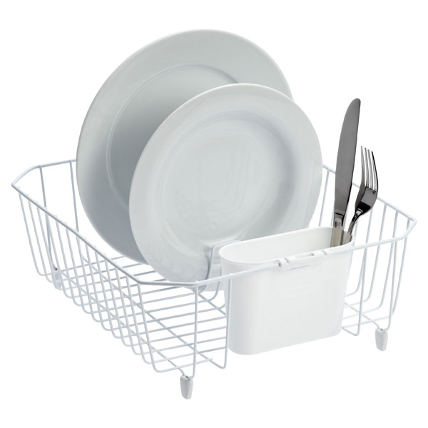 Twin Sink Dish Drainer White