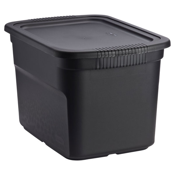 18 gal. Tote Box Black