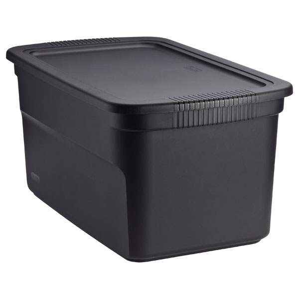 30 gal. Tote Box Black