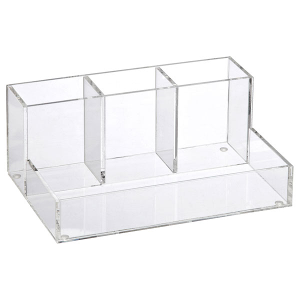 4 section acrylic cosmetic organizer the container store - Acrylic desk drawer organizer ...