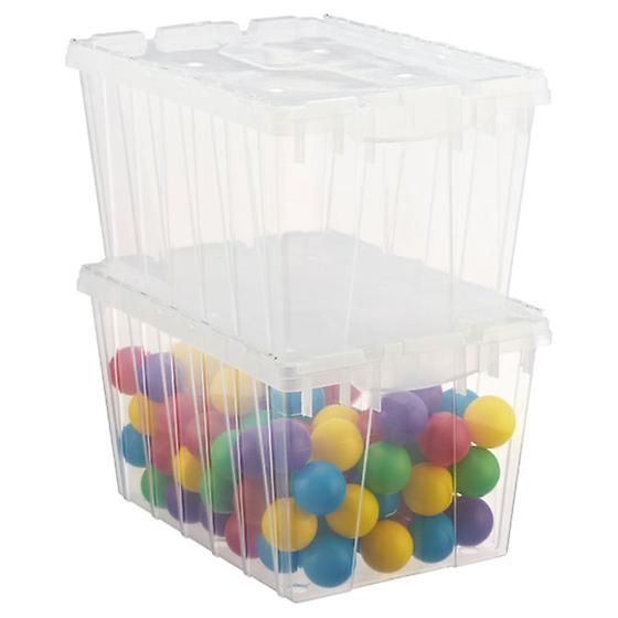 12 gal. Translucent Hinged-Lid Tote