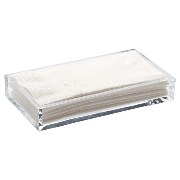 Acrylic guest towel tray the container store for Decorative bathroom tray