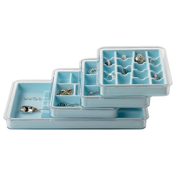 Light Blue Stacking Jewelry Tray System