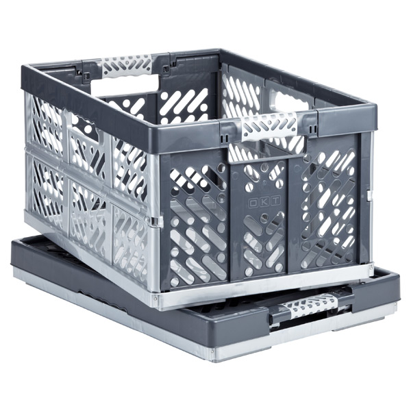 Folding Crate Grey
