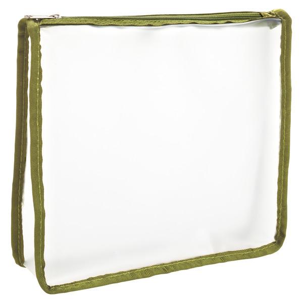 Quart-Size Travel Zippered Pouch Green