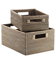 Steel Rattan Bins
