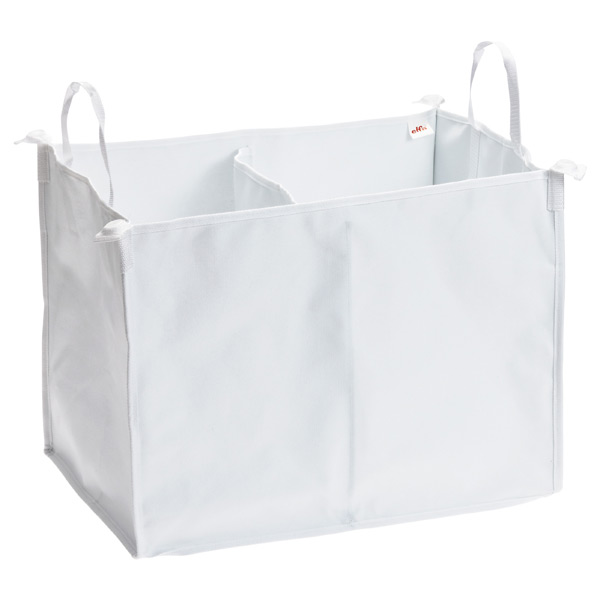elfa Divided Hamper White