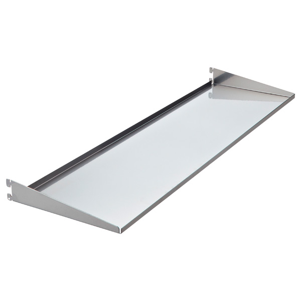 "10"" x 3'  x 1-7/8"" h elfa utility Shelf/Tray Platinum"