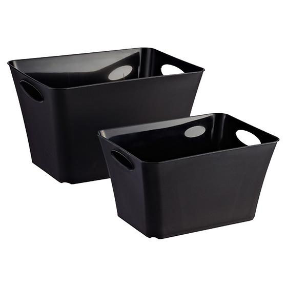 Black Taper Bins