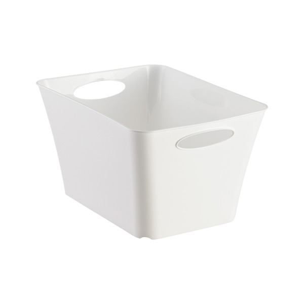 Small Taper Bin White