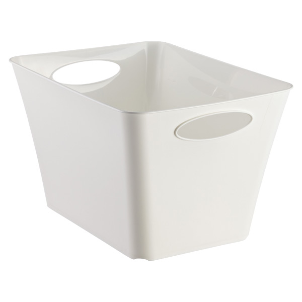 Large Taper Bin White