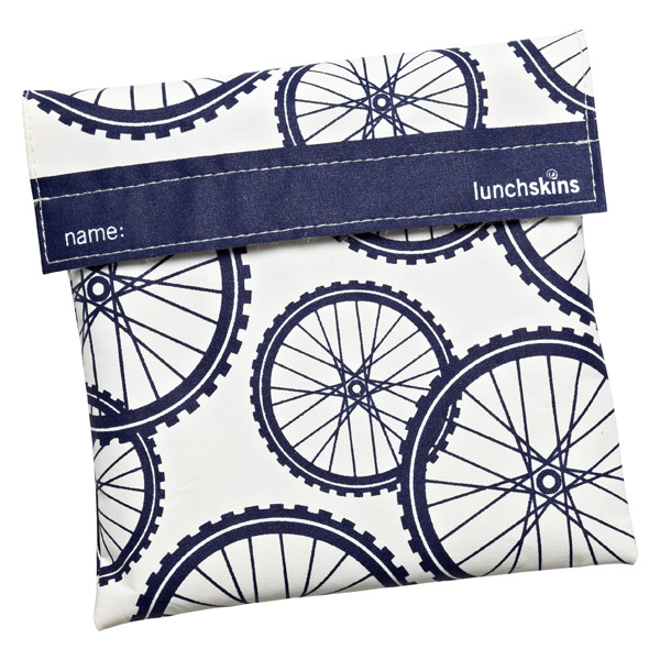 lunchskins Sandwich Bag Navy Bikes