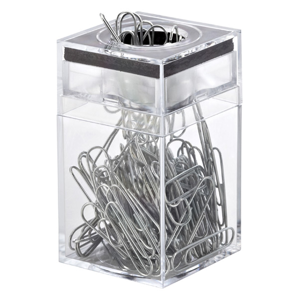 Paper Clip Dispenser & Clips Clear