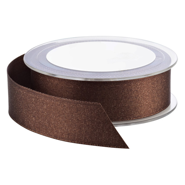 Espresso Glitter Double Satin Ribbon