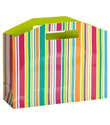 Large Bright Stripes Gift Tote