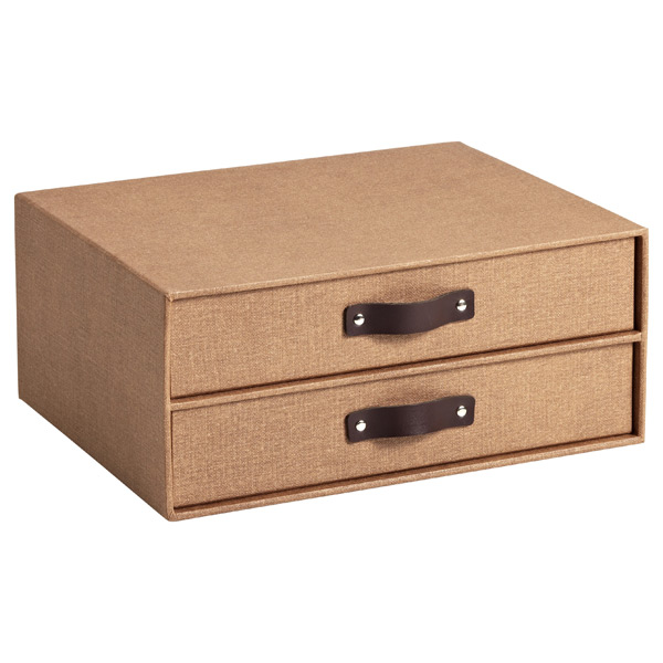 Bigso Marten Paper Drawers Chestnut
