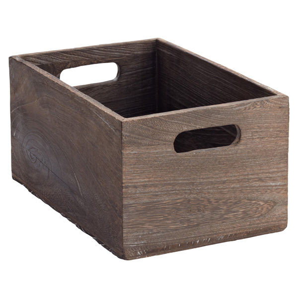 X-Small Feathergrain Wood Bin