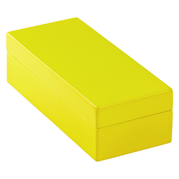 Mini Lacquered Rectangular Box Yellow